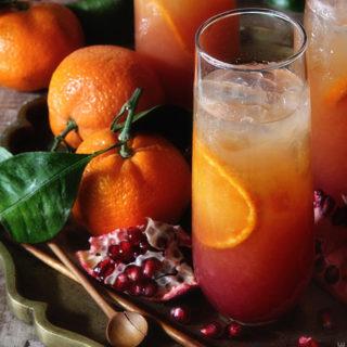 Satsuma and Pomegranate Campari