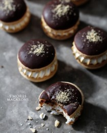 Smores Macarons from Bakers Royale31 210x260