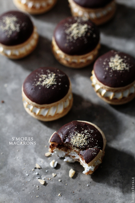 Smores Macarons from Bakers Royale31