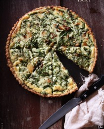 Arugula and Leek Tart