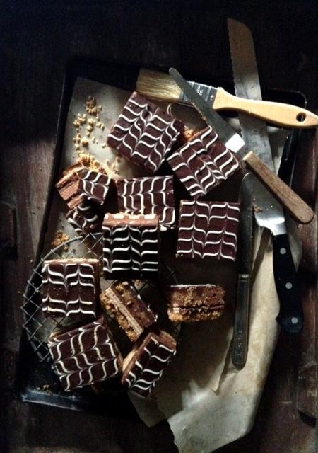 Kit Kat Cheesecake Bars - Aftermath - Bakers Royale