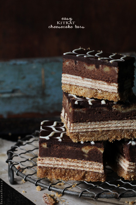 Kit Kat Cheesecake Bars from Bakers Royale Kit Kat Cheesecake Bars