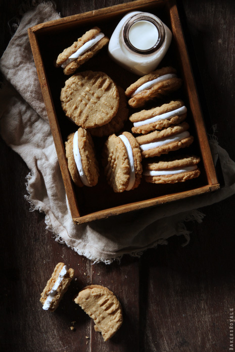 Peanut Butter Marshmallow Sandwich Cookies from Bakers Royale1