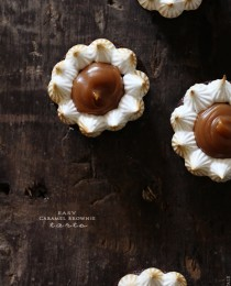 Caramel Brownie Tarts via Bakers Royale 210x260