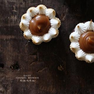 Carmel Brownie Tarts