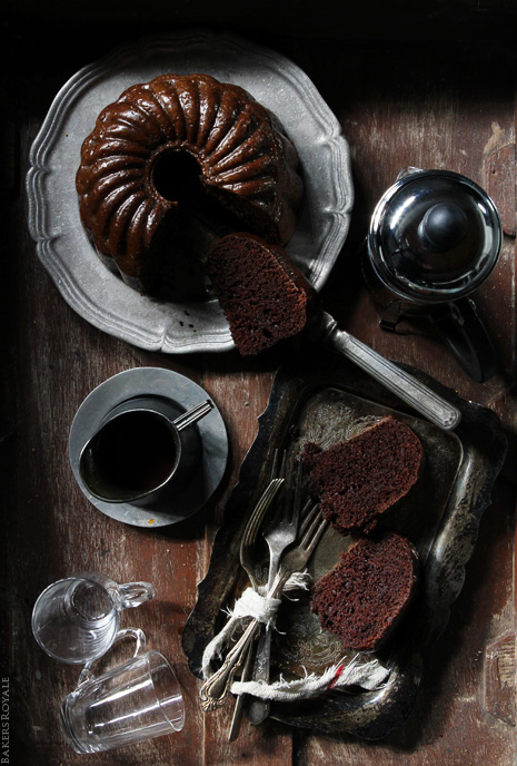Chocolate Caramel Rum Cake from Bakers Royale