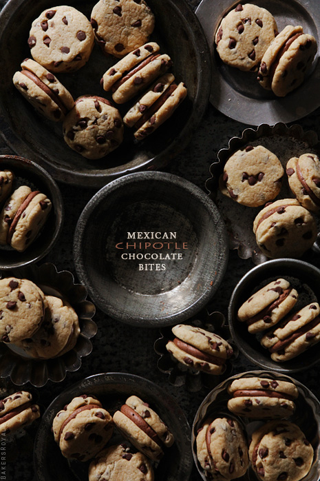 Mexican Chipotle Chocolate Bites via Bakers Royale