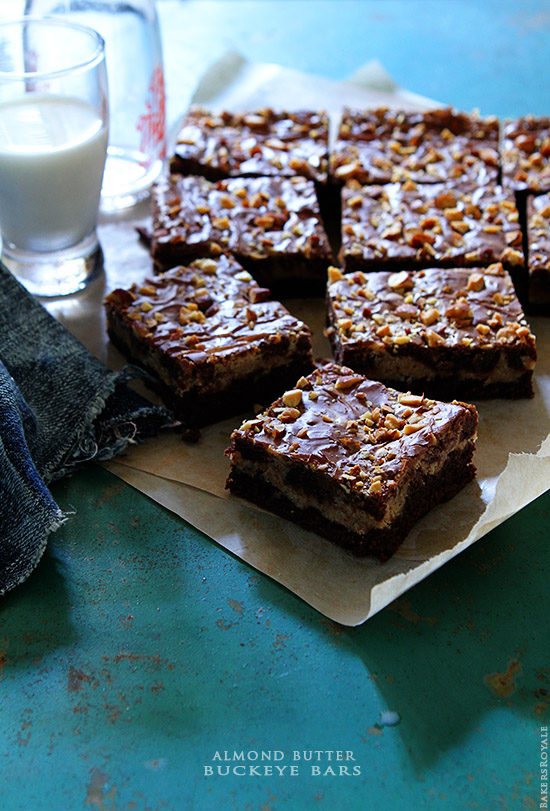 Almond Butter Buckeye Bars-Bakers Royale