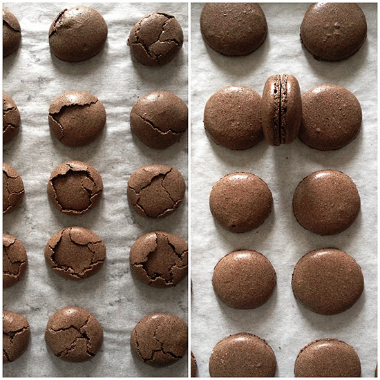 Chocolate Coffee Macarons via Bakers Royale