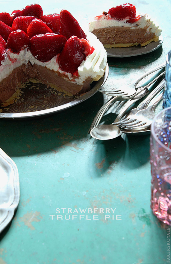 Strawberry Truffle Pie via Bakers Royale