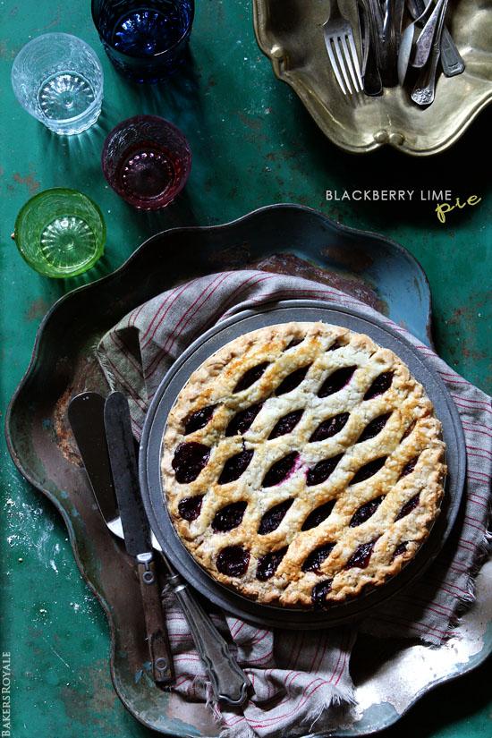 Blackberry Lime Pie via Bakers Royale