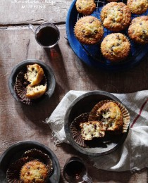 Chocolate Chip Banana Muffins via Bakers Royale 210x260