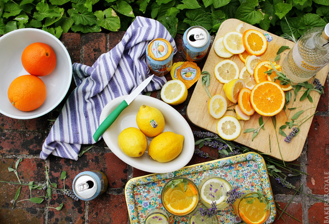 Citrus and Herb Vodka Tonics Ingredients via Bakers Royale