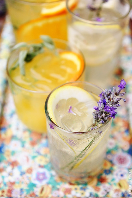 Citrus and Herb Vodka Tonics via Bakers Royale