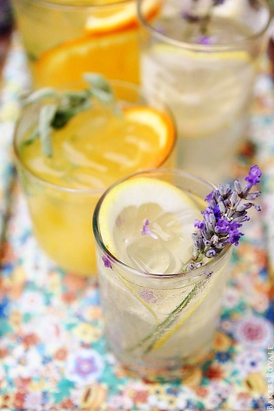 Citrus and Herb Vodka Tonics via Bakers Royale