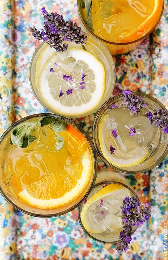 Orange & Sage and Lemon & Lavender Vodka Tonic