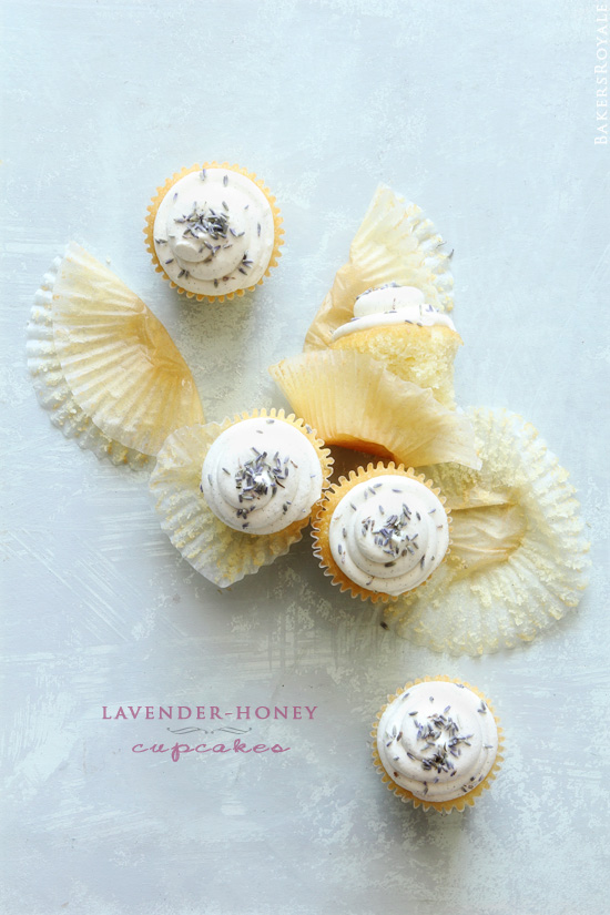 Lavender Honey Cupcakes from Bakers Royale