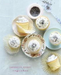 Lavender Honey Cupcakes via Bakers Royale