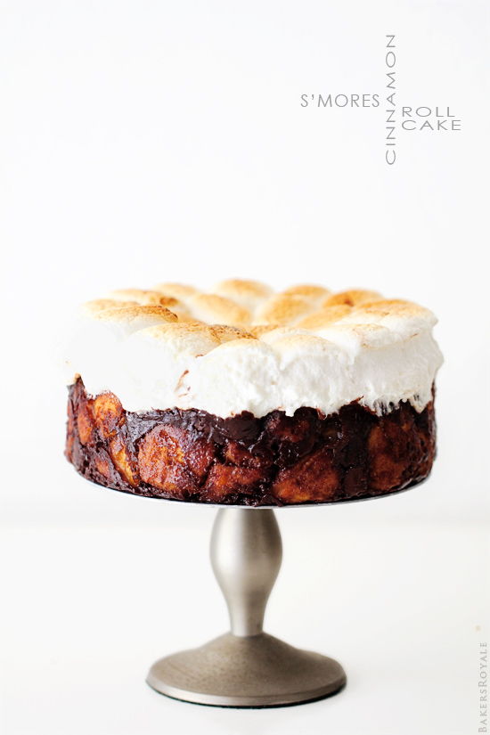 Smores Cinnamon Roll Cake by Bakers Royale