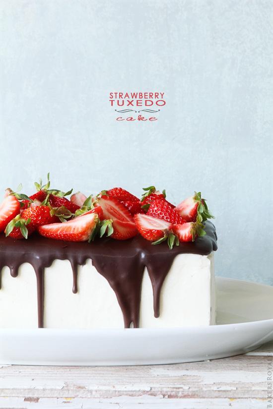 Strawberry Tuxedo Cake