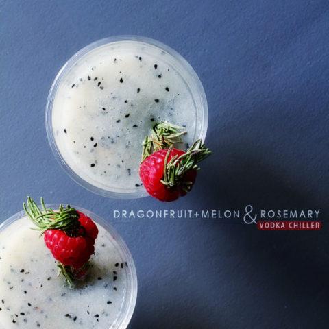 Dragon Fruit + Melon and Rosemary Vodka Chiller