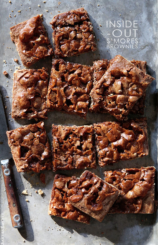 Inside Out Smores Brownies via Bakers Royale copy