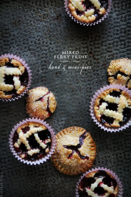 Mixed Berry Hand & Mini Pies from Bakers Royale