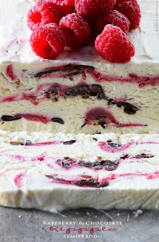 Raspberry Ripple Ice Semifreddo