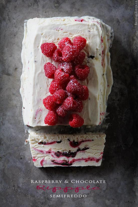 Raspberry & Chocolate Ripple Semifreddo from BakersRoyale