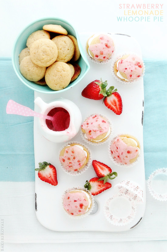 Strawberry-Lemonade Whoopie Pies from Bakers Royale