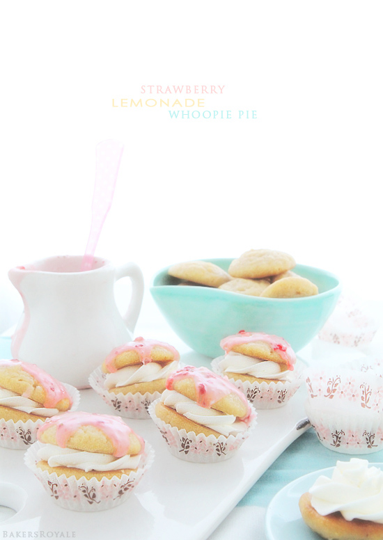 Strawberry-Lemonade Whoopie Pies via Bakers Royale