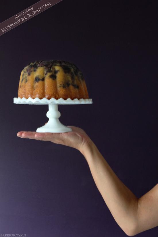Gluten-Free Blueberry & Coconut Cake from BakersRoyale