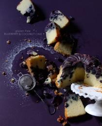 Gluten Free Blueberry Coconut Cake via BakersRoyale 210x260