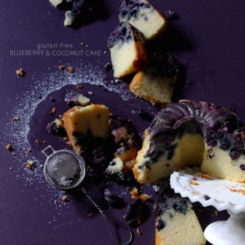 Gluten-Free Coconut Blueberry Cake
