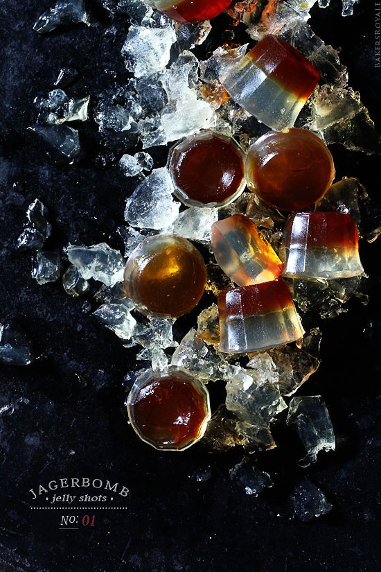 Jagerbomb Jelly Shot via Bakes Royale