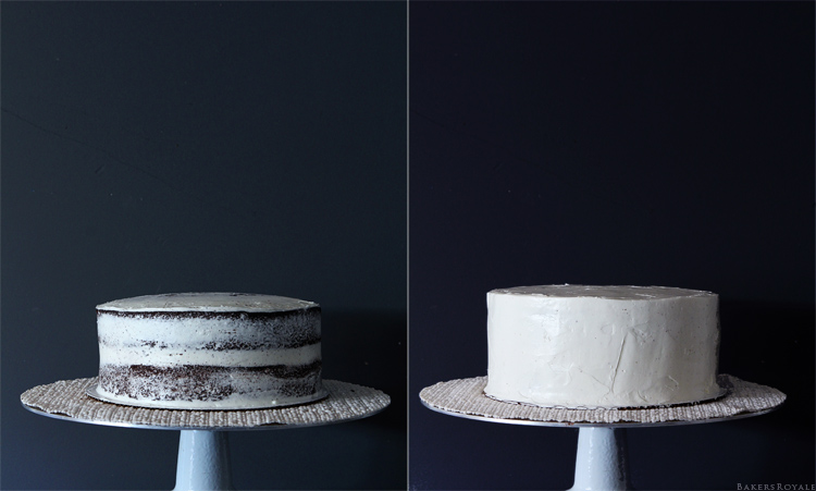 How to pipe a rose cake step 1 & 2 via Bakers Royale