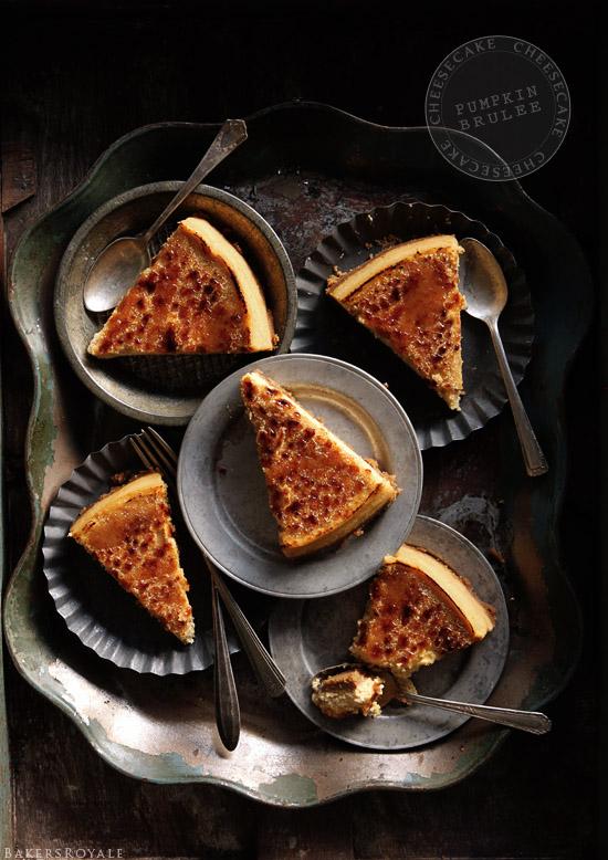 Maple Pumpkin Brulee Cheesecake
