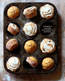 Pumpking Smore Dougnut Muffin via Bakers Royale 210x260