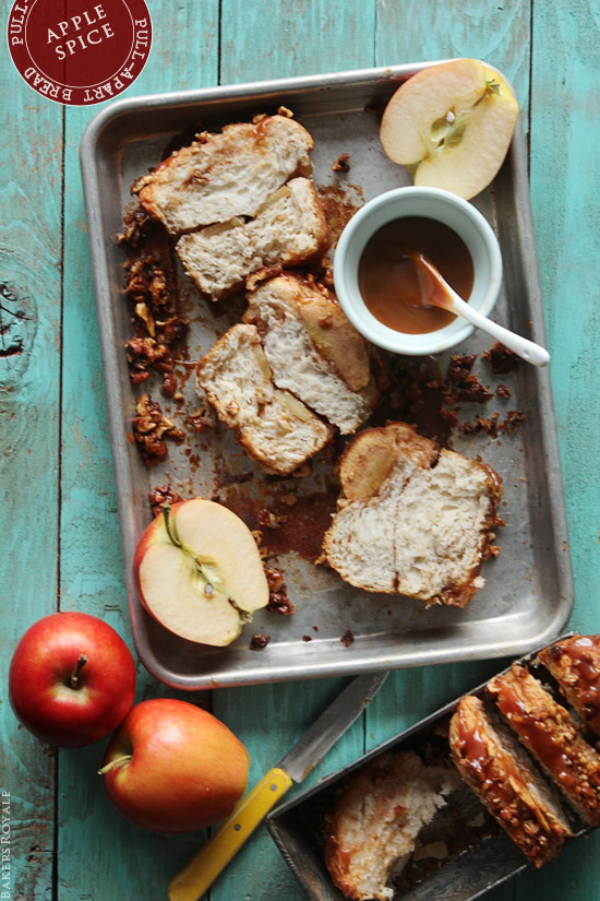 Apple Spice Pull Apart Bread via Bakers Royale