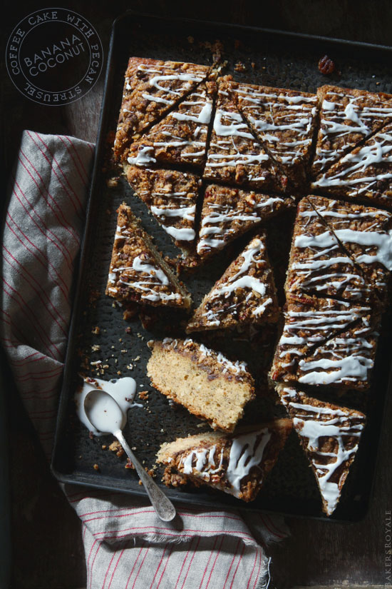 Banana Coconut Coffee Cake with Bakers Royale