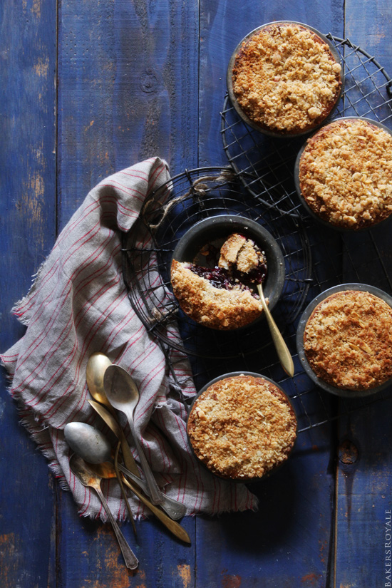 Blueberry Streusel Pie via Bakers Royale