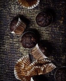 Double Chocolate Chip Muffins via Bakers Royale 210x260