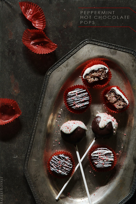 Peppermint Hot Chocolate Pops