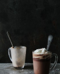 Peppermint Hot Chocolate via Bakers Royale 210x260