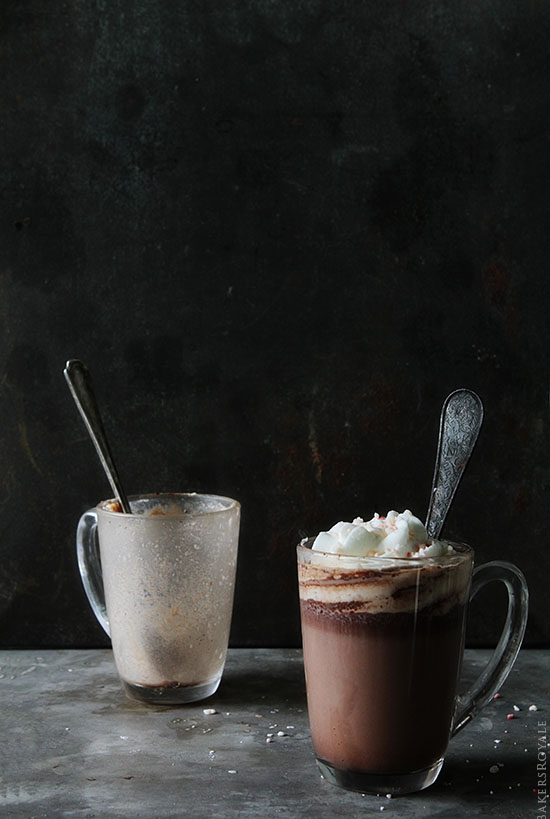 Peppermint Hot Chocolate via Bakers Royale