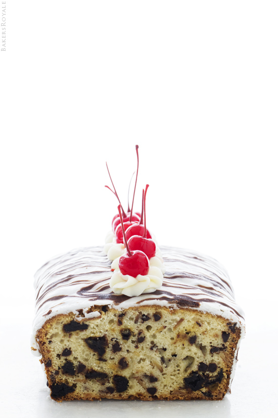 Cherries and Cream Quick Bread with Bakers Royale