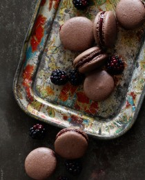 Chocolate Blackberry Macarons by BakersRoyale 210x260