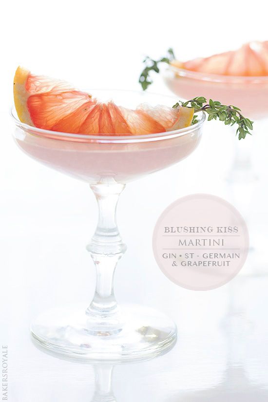 Blushing Kiss Martini | Bakers Royale
