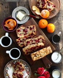 Cranberry and Coconut Bread via Bakers Royale