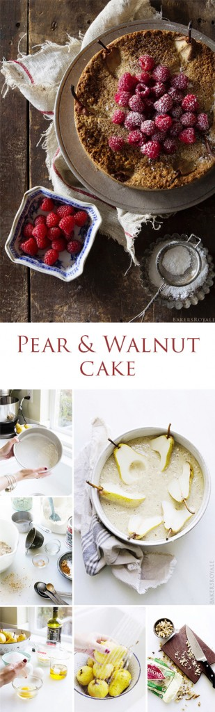 Pear & Walnut Cake